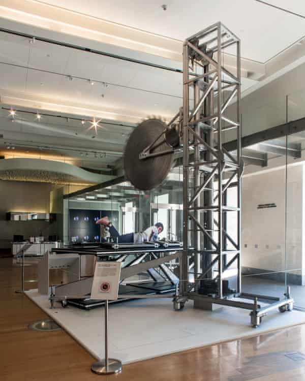 """Copperfield's """"Death Saw"""", on display at the New-York Historical Society."""