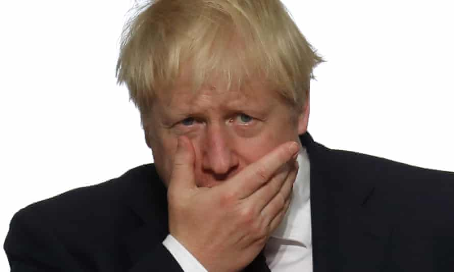 Boris Johnson in Biarritz, France, at the G7 summit, 25 August 2019.