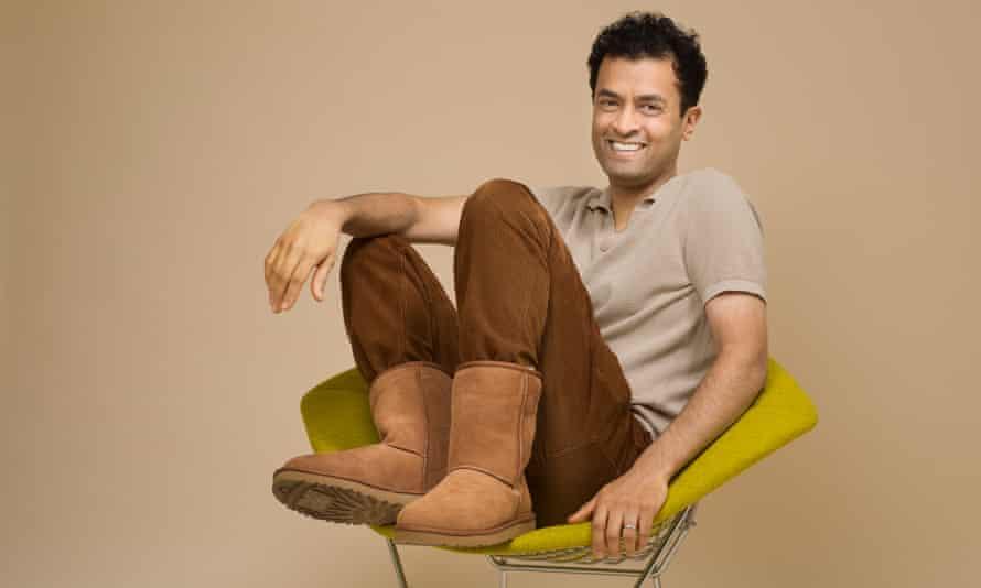 Boots you sir: Prya Elan in his snuggly Uggs.