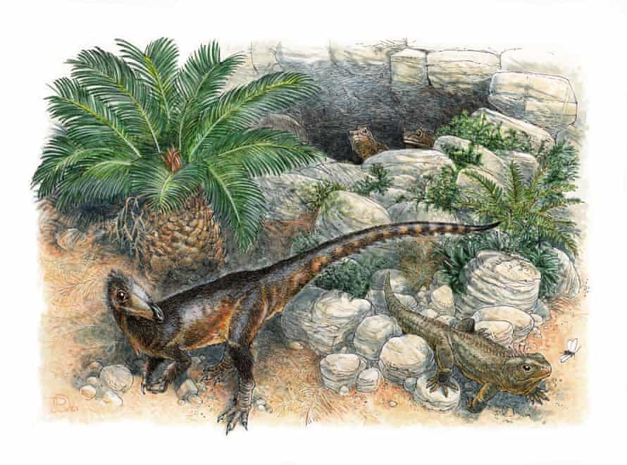 Artist's depiction of how the dinosaur Pendraig milnerae – meaning chief dragon – might have looked.