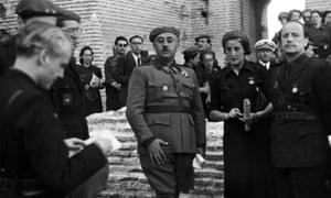General Franco strikes a victor's pose in June 1939