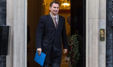 Jeremy Hunt leaves 10 Downing Street.