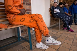 The distinctive uniforms of South Africa's Pollsmoor prison