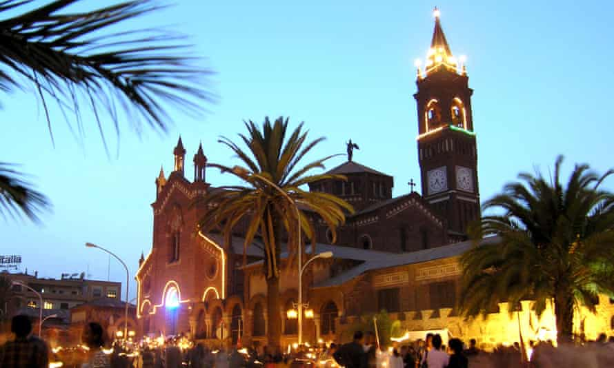 Asmara's Catholic Cathedral, an example of the city's Italian heritage