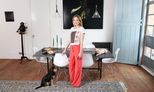 Taxidermy artist Polly Morgan in her apartment in Hackney.