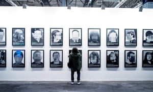 The Political Prisoners in Contemporary Spain artwork during the Arco fair in Madrid