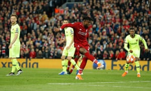 After a quick-corner routine, Divock Origi was left all alone in the Barcelona box to score a dramatic winner.