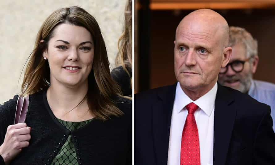 Former Liberal Democrats senator David Leyonhjelm (right) owes Sarah Hanson-Young (left) $120,000 after the federal court threw out his bid to appeal a court ruling that he defamed the Greens senator.