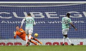 Allan McGregor saves Odsonne Edouard's penalty.