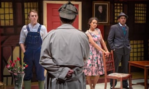 A guest Inspector faces the cast of Whodunnit [Unrehearsed] at Park Theatre. The Inspector role is played by a different celebrity every night.