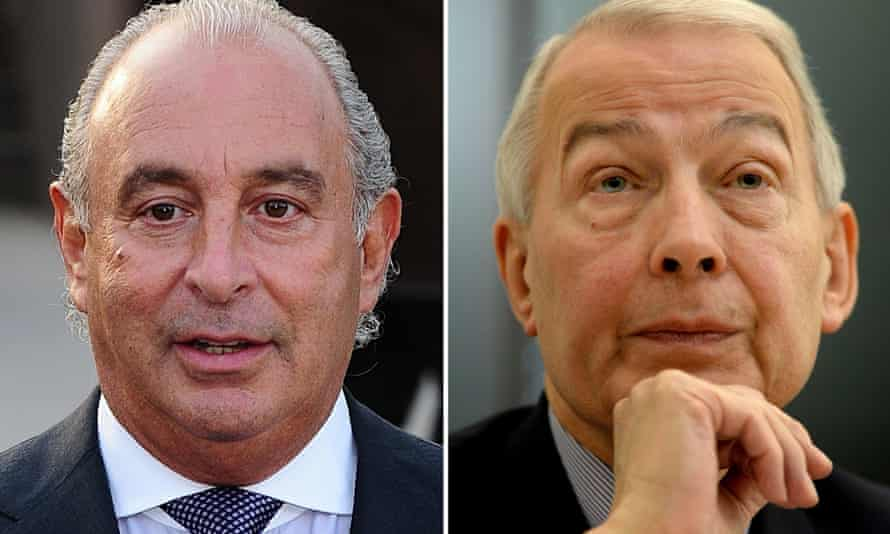 Frank Field (right) and Sir Philip Green (left)