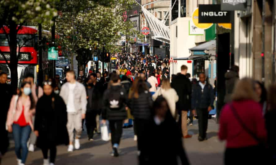 Oxford Street: business investment is likely to grow at a slower pace than consumer spending.