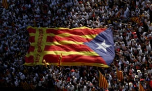 Catalan pro-independence supporters demonstrate in Barcelona
