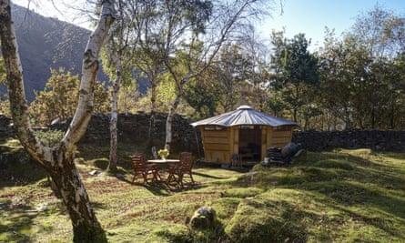 A 'caban' at Graig Wen in Snowdonia