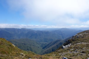 The view from the top of the Ironbound ranges.