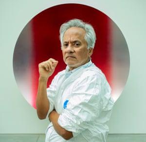 Beyond simple slogans … Anish Kapoor in his studio in London.