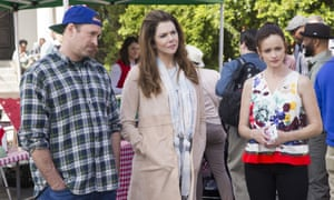 Sisters act: Scott Patterson, Lauren Graham and Alexis Bledel in Gilmore Girls: A Year in the Life.