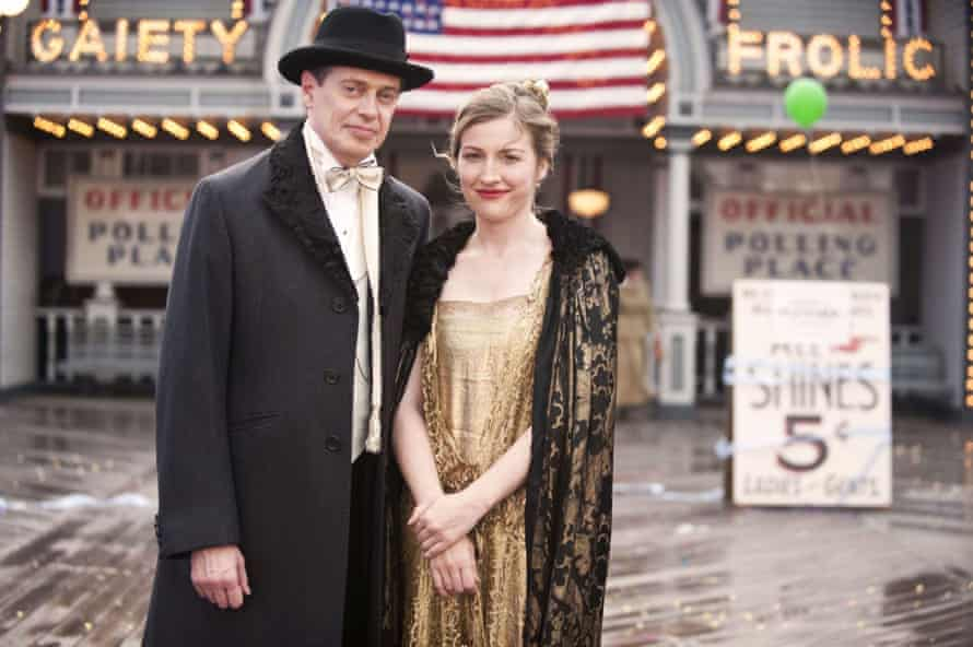 With Steve Buscemi in Boardwalk Empire.