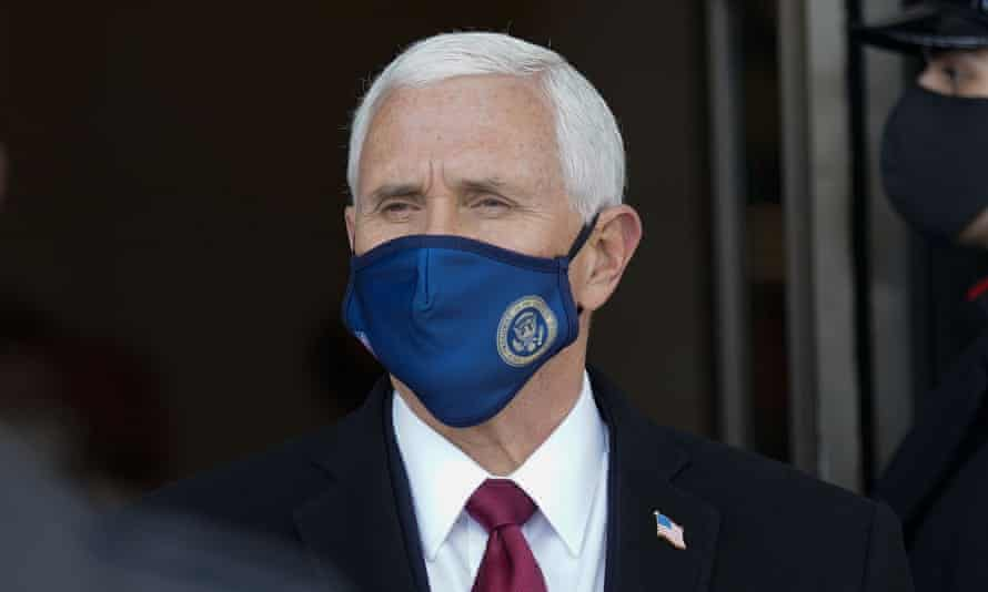 Mike Pence in Washington DC on 20 January.