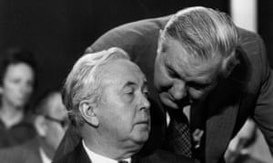 Harold Wilson and Jim Callaghan in 1975