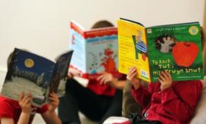 Children read in Welsh