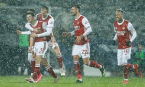 Kieran Tierney of Arsenal celebrates.