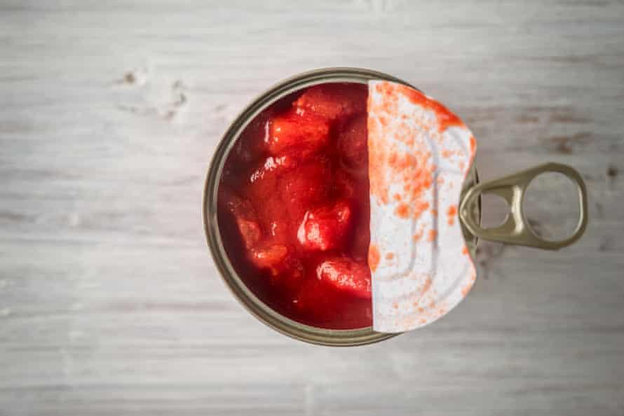 Chopped tinned tomatoes