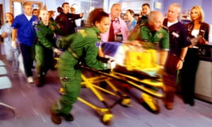 Soon toned down by the BBC … Casualty.