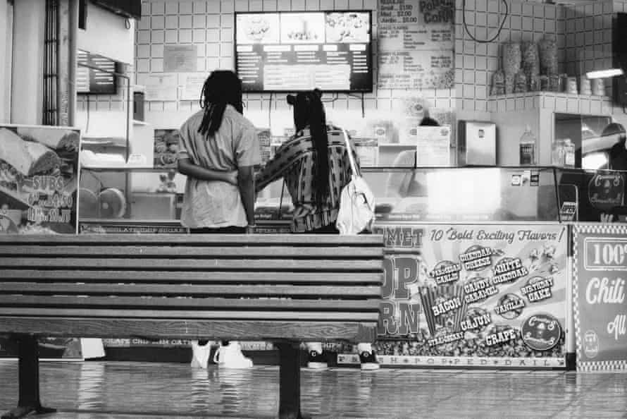 Date Day. A young couple treats themselves to baked sweets at one of few open stands at Red Bird Mall. The mall, located in South Dallas, is currently under renovation, after going through a series of name changes and closures.