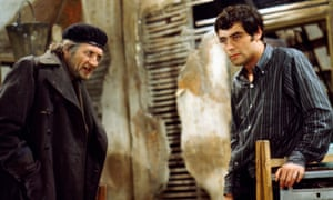 Roy Dotrice, left, and Ian McShane in a scene from the television adaptation of Harold Pinter's play The Caretaker in 1967.