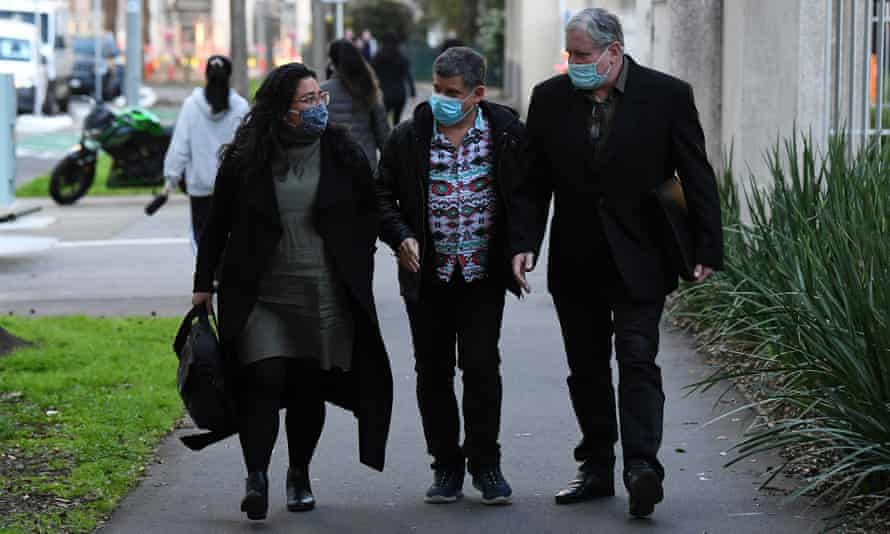 Maria James' sons leave the Victorian coroner's court