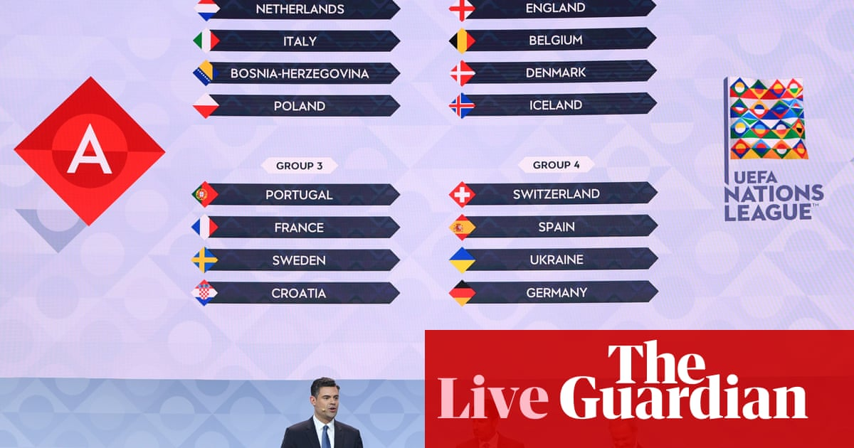 Uefa Nations League 2020-21 draw – as it happened