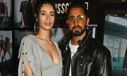 Missguided founder Nitin Passi and singer Rainy Milo in London, 2017.