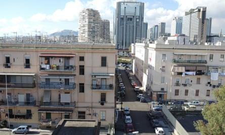 Apartment buildings in Rione Luzzatti, Naples.