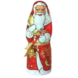 Lindt chocolate Santa.