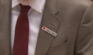 The badge worn by the Labour leader during PMQs.