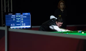 Jimmy White plays a shot during his first-round win.