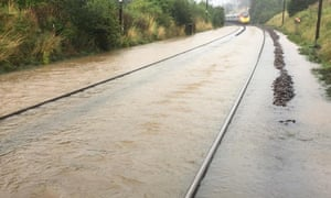 Flooding between Carlisle and Lockerbie caused the closure of the line on Saturday