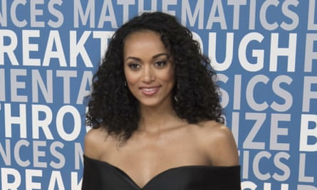 Miss USA Kara McCullough, who is a chemist, at the Breakthrough awards in Mountain View, California.