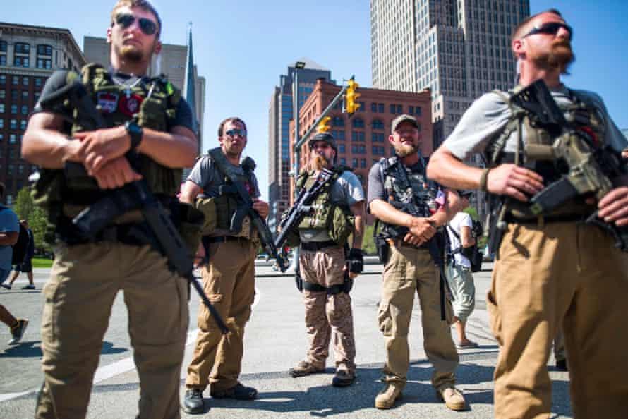 Members of the West Ohio Minutemen
