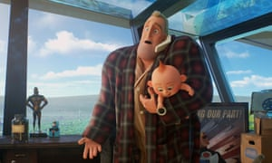 Stay-at-home dad Bob with the show-stealing Jack-Jack in Incredibles 2.