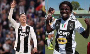 Cristiano Ronaldo and Eni Aluko celebrate after their teams both won their respective league titles.