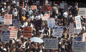 The fight for liberal democracy … demonstrators in Washington DC in August 1963