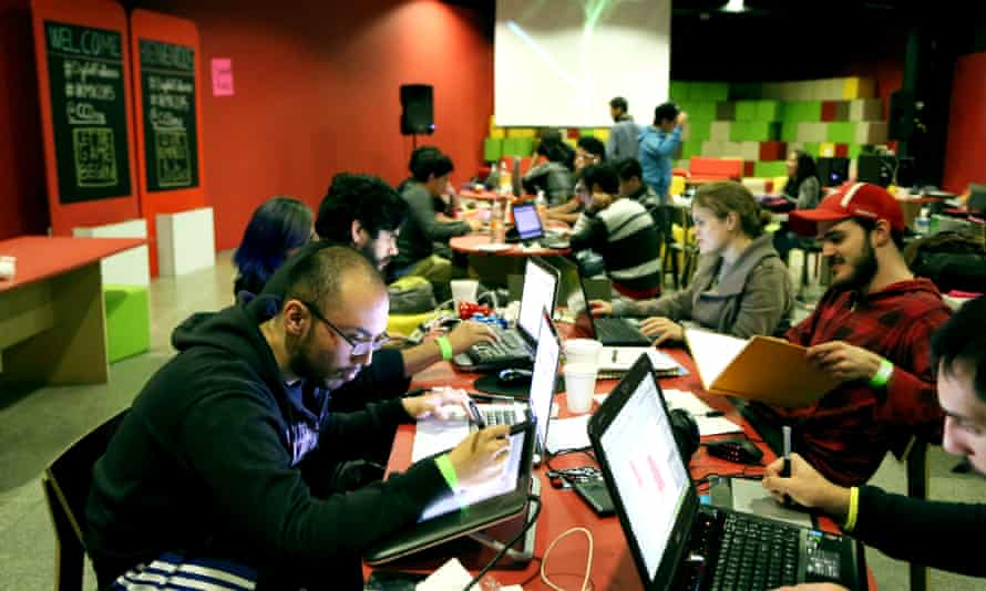 More than 70 people took part in the 48-hour hackathon.