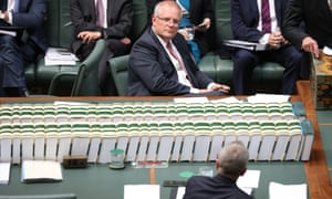Scott Morrison and Bill Shorten in question time during a fortnight that could be described as a 'carnival of chaos'
