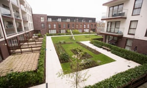 Too poor to play: children in social housing are blocked from communal playground at the Baylis Old School complex in Lambeth, London