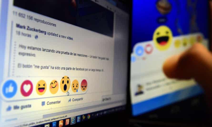 Facebook 'reactions'