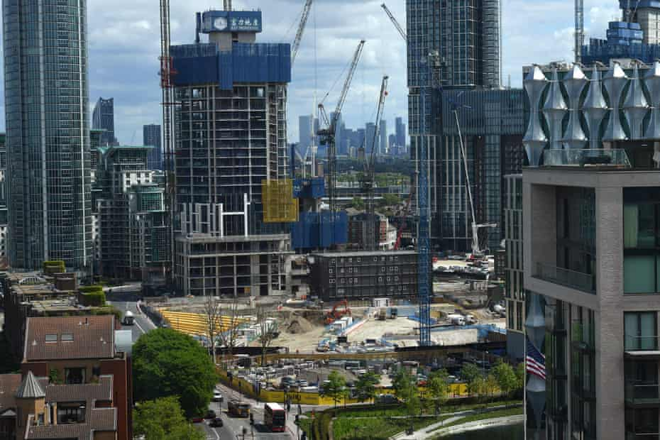 Construction ongoing at Nine Elms.