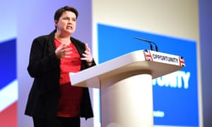 Ruth Davidson, Leader of the Scottish Conservatives, speaks to party delegates in Birmingham