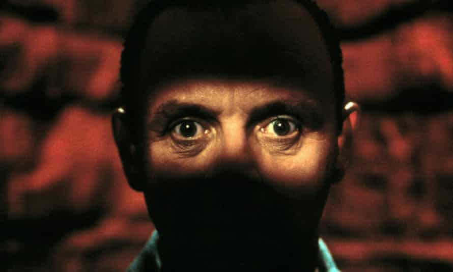 Anthony Hopkins as Hannibal Lecter in Jonathan Demme's 1991 film of The Silence of the Lambs.